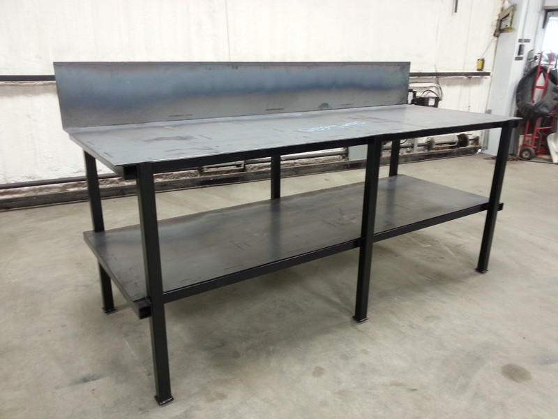 Dans Custom Welding Tables Gibbon MN Products Services - 8 ft stainless steel work table