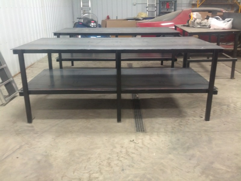 Dans Custom Welding Tables Gibbon MN Products Services - 4x8 steel table