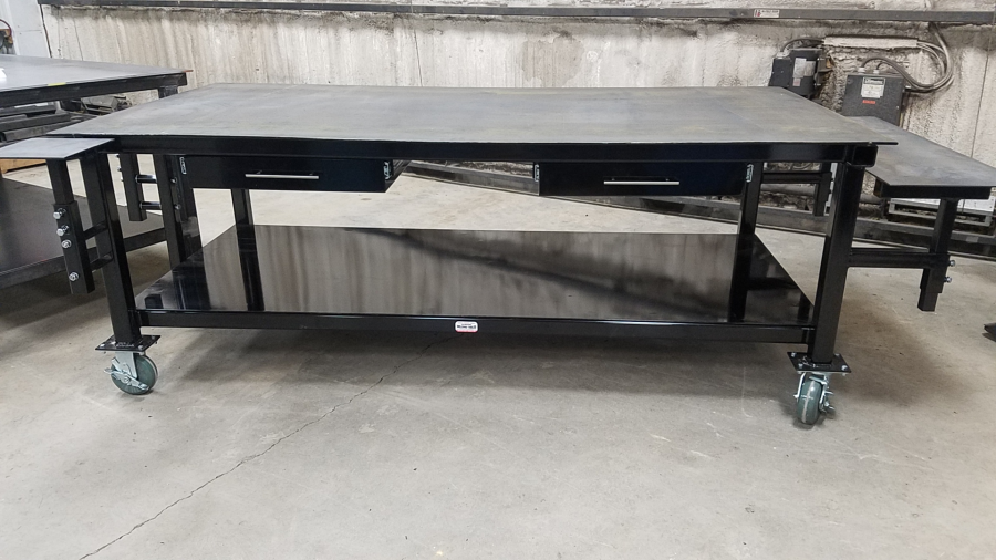 Dans Custom Welding Tables Gibbon MN High Quality Welding Tables - 4x8 steel table